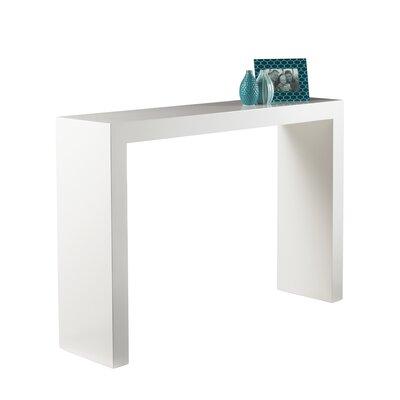 Orren Ellis Canyon Arch Console Table Color: White