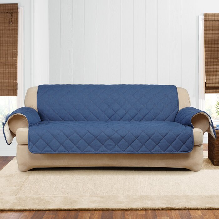 Sure Fit Denim Sherpa T Cushion Sofa Slipcover Wayfair