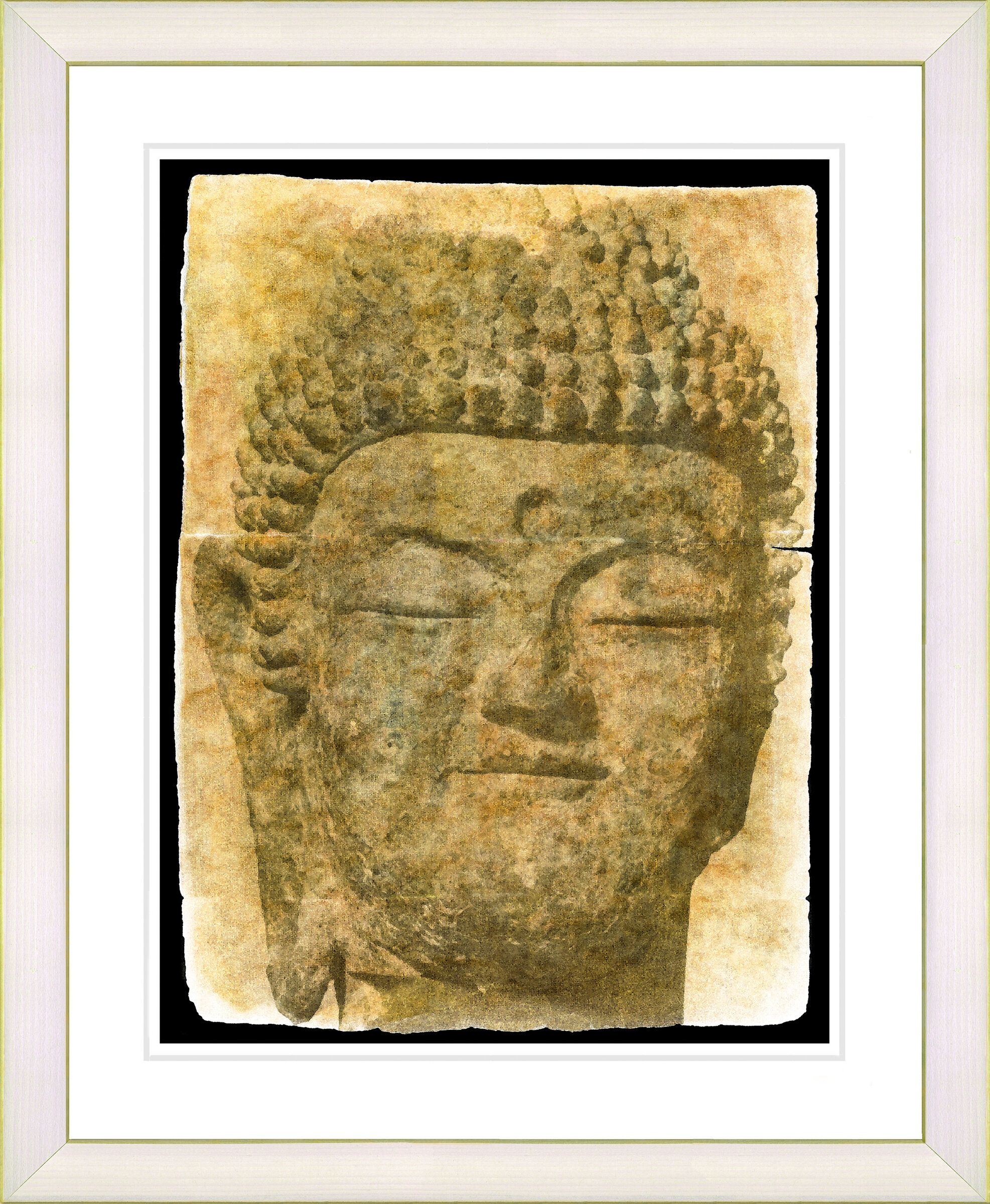 Studio Works Modern \'Sand Buddha\' by Zhee Singer Framed Painting ...