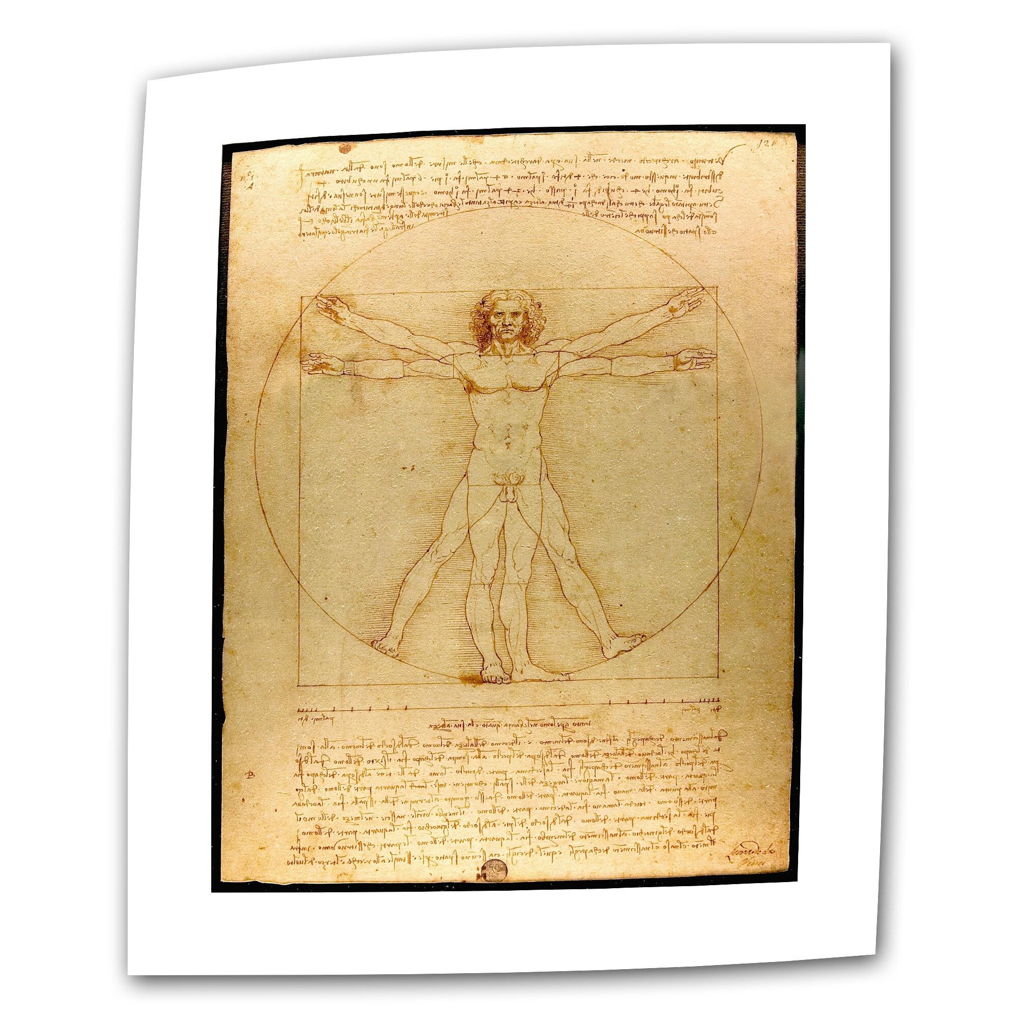 ArtWall Vitruvian Man by Leonardo Da Vinci Graphic Art Removable ...