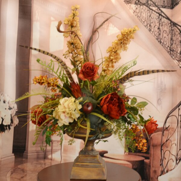 Flowers For Home Decor: Floral Home Decor Large Silk Flower Arrangement With