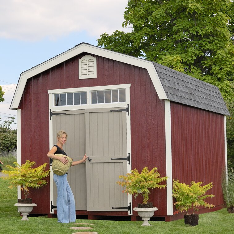 Colonial Bury 10 Ft. W X 10 Ft. D Wooden Storage Shed
