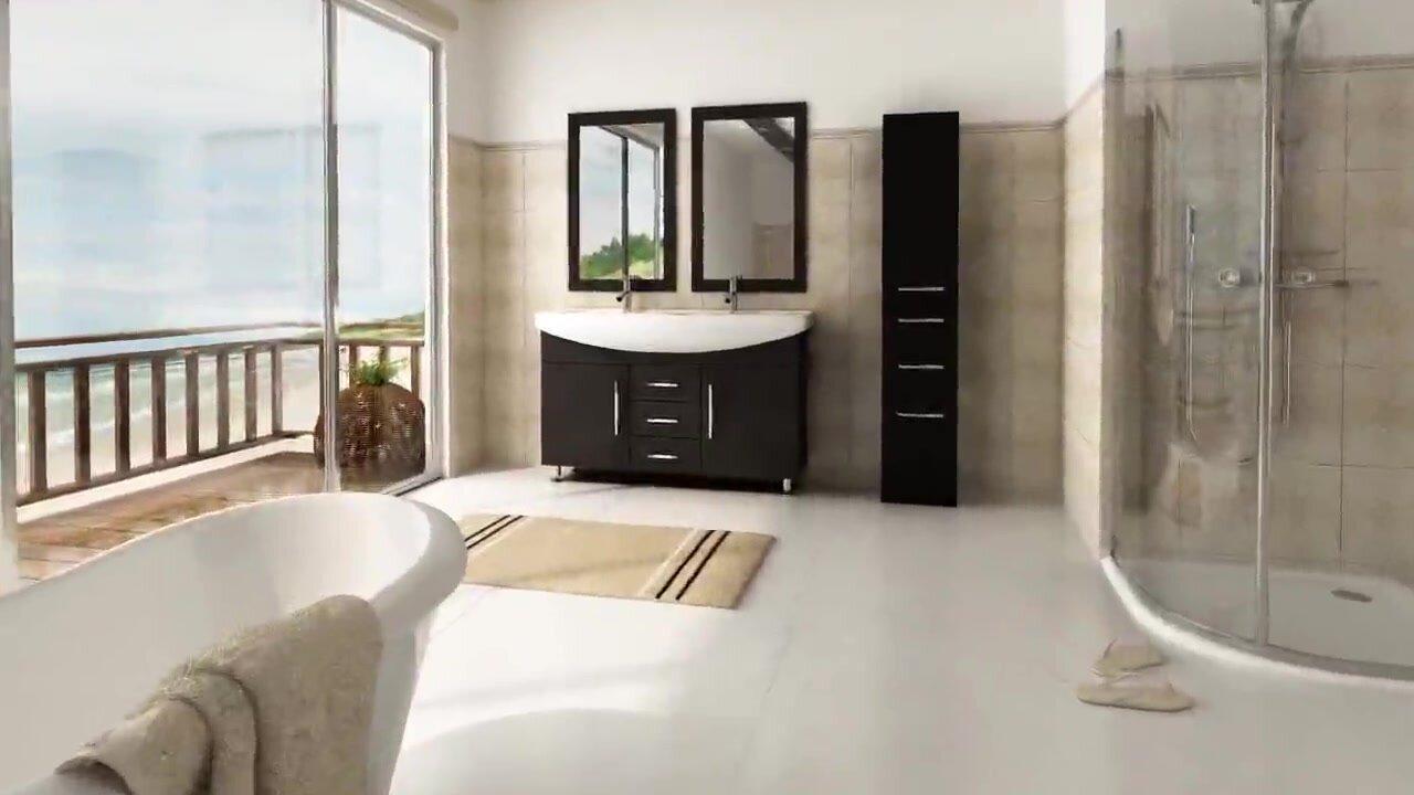jwh living celine 48 quot  double bathroom vanity set   reviews 48 Double Sink Bathroom Vanity 48 Inch Double Sink Bathroom Vanity