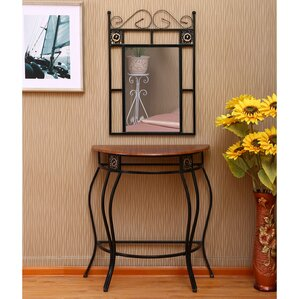 Entryway Table With Mirror Entryway Table And Mirror Sets | Wayfair