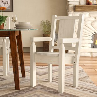 Abella Rustic Hand-Crafted Captain's Solid Wood Dining Chair