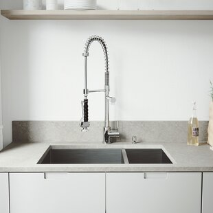 29 Inch Undermount 70 30 Double Bowl 16 Gauge Stainless Steel Kitchen Sink With Zurich Chrome Faucet Two Grids Strainers And Soap Dispenser