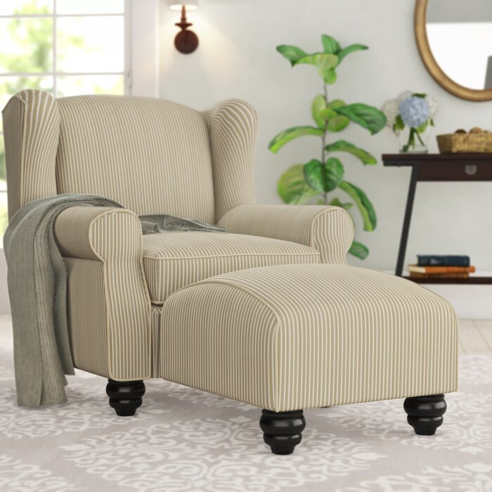finest selection 0b837 f1125 Brougham Wingback Chair and Ottoman