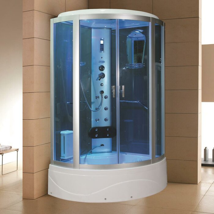 Eagle Bath Steam Shower.Eagle Bath 42 X 86 2 Neo Angle Sliding Steam Shower With Base