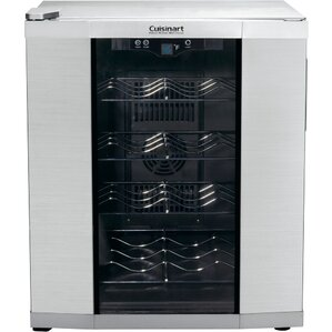 16 Bottle Single Zone Freestanding Wine Cooler by Cuisinart
