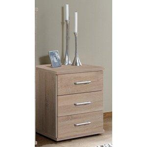 Nachttisch Regan mit 3 Schubladen von Home Etc