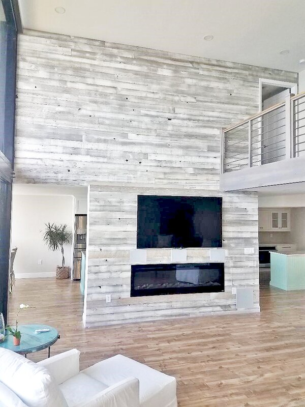 "Centennial Woods 5"" Solid Reclaimed Wood Wall Paneling In"