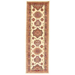 Bozrah Hand Hooked Cotton Red/Beige Rug by Rosalind Wheeler