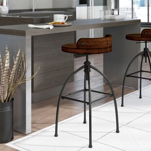 Delacruz Adjustable Height Bar Stool
