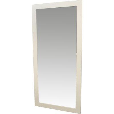 Brayden Studio Satin Full Length Body Mirror Size: 66 H x 31 W x 0.75 D, Finish: White