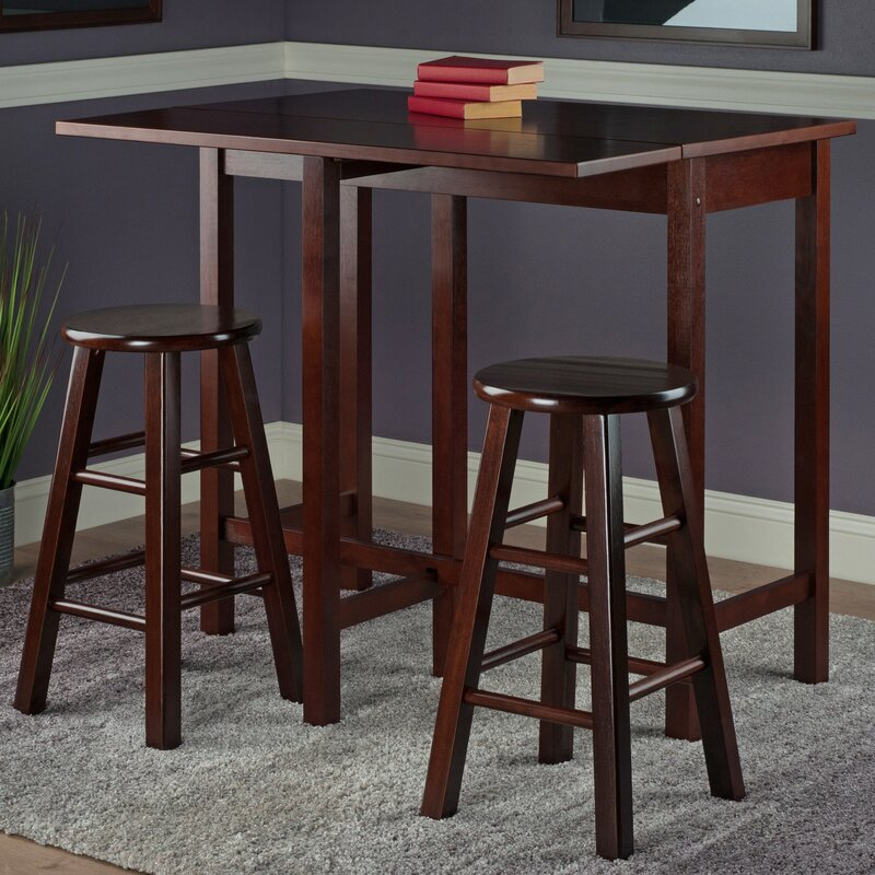 Roundhill Furniture 3 Piece Counter Height Pub Table Set: Red Barrel Studio Bettencourt 3 Piece Counter Height Pub