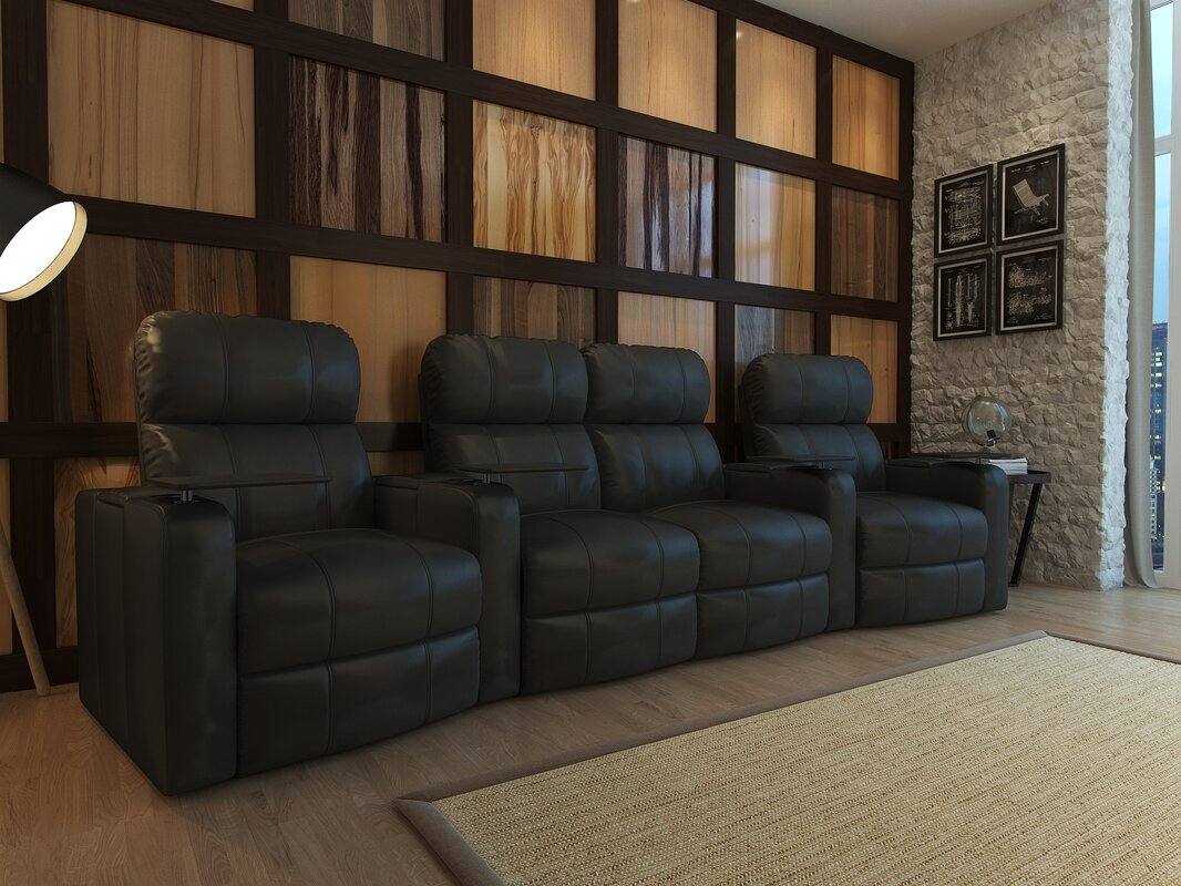 Nice Home Theater Loveseat (Row Of 4)