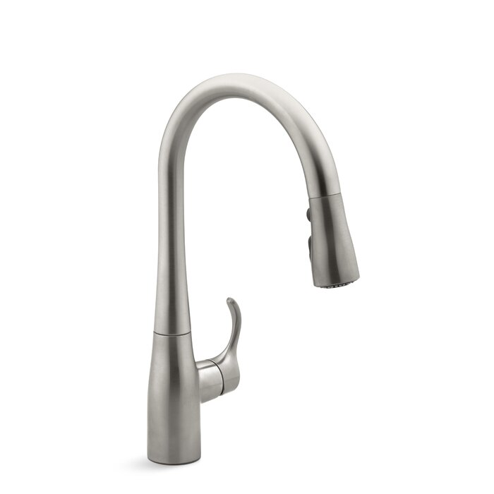 single hole cp full simplice chrome faucets prod kohler polished asp kitchen faucet pulldown k