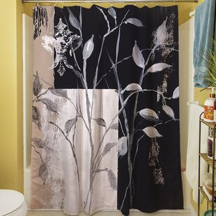 African Leaf Abstract Shower Curtain