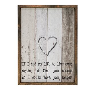 Attractive Print Framed Textual Art