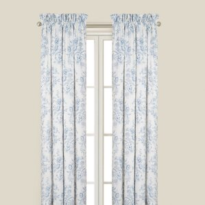 Superb Karen Blue Single Curtain Panel