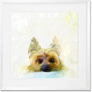 'Best Friend - Yorkie' Graphic Art Print