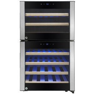 45 Bottle Dual Zone Built-In Wine Cooler by AKDY