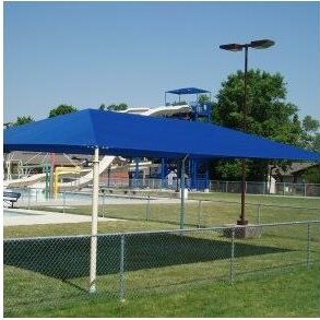 ALEKO 13 x 10 Rectangle Shade Sail  Color: Blue