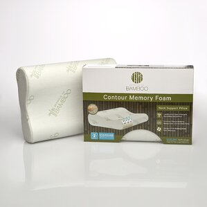 Essence of Bamboo Memory Foam Contour Pillow by Pegasus Home Fashions