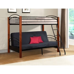 Medium image of hermina metal and wood twin bunk bed