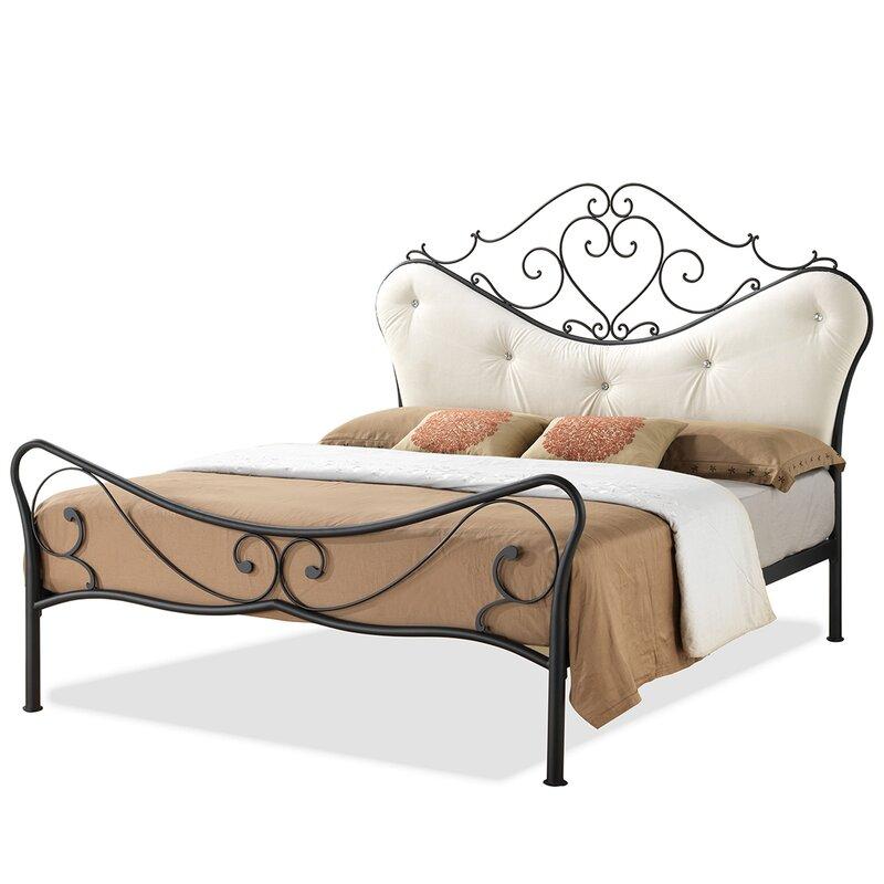 alana white upholstered poster bed