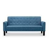 Navy Blue Tufted Sofa | Wayfair