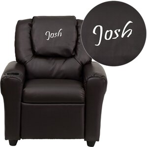 Deluxe Contemporary Personalized Kids Recliner with Cup Holder  sc 1 st  Wayfair & Kids\u0027 Chairs You\u0027ll Love | Wayfair islam-shia.org