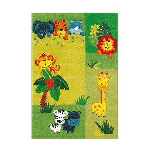 Move Flatweave Green/Yellow Rug by Kayoom