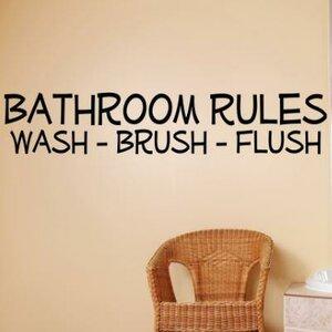 Bathroom Rules Washlush Wall Decal