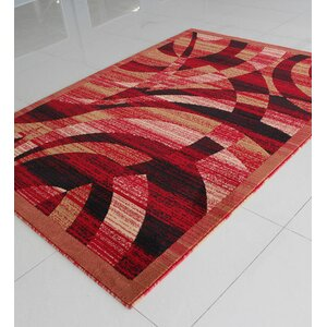 Caramel/Red Area Rug