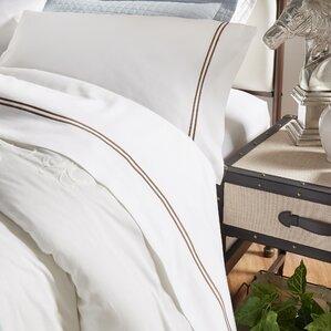 thread count stripe superior combed cotton sheet set