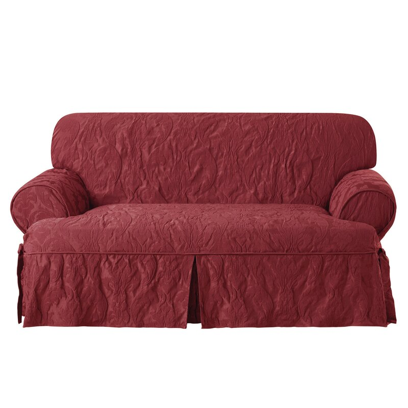 Sure Fit Matelasse Damask T Cushion Loveseat Slipcover Reviews