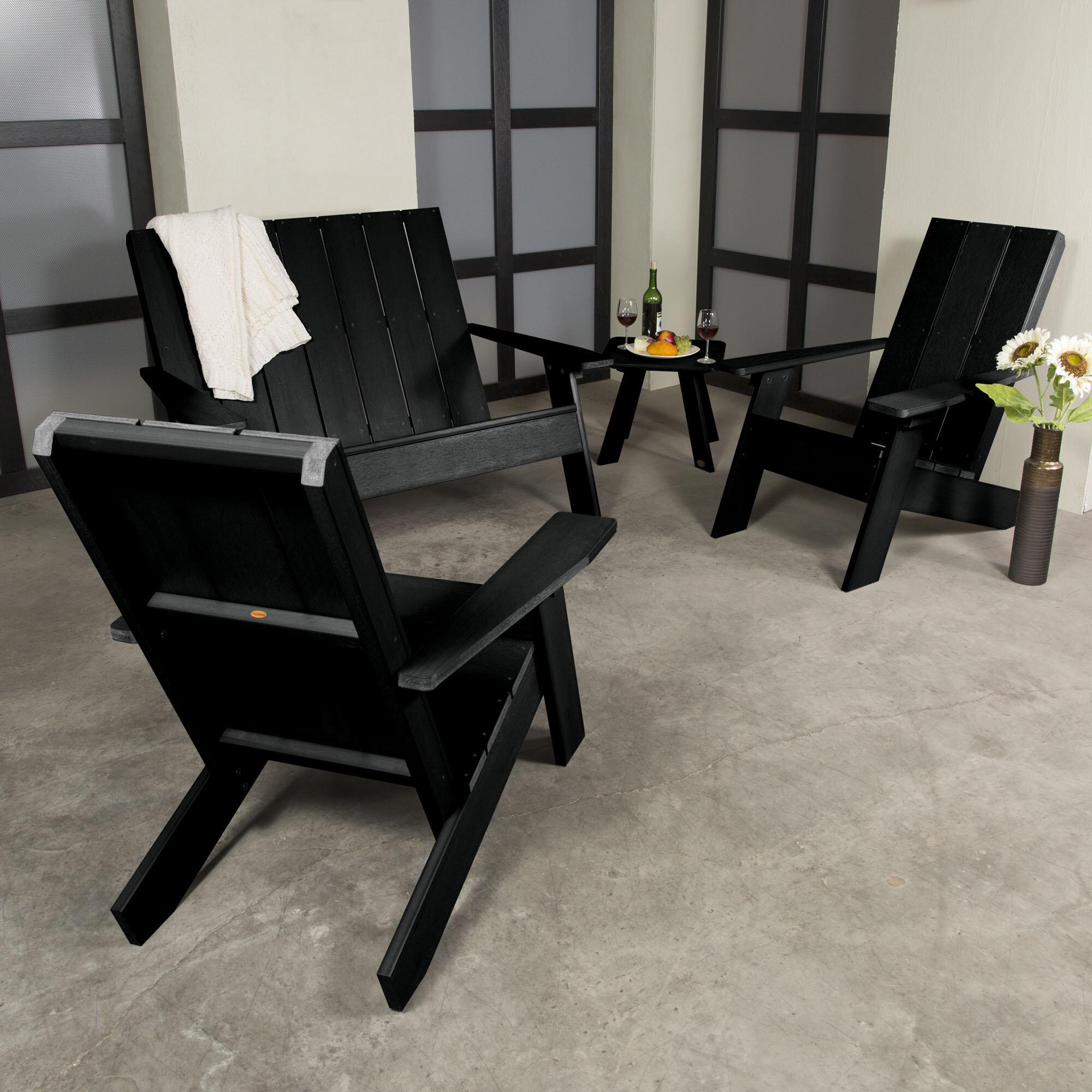 Adirondack Coffee Table Set: Highwood USA Barcelona Plastic 4 Piece Adirondack Chair