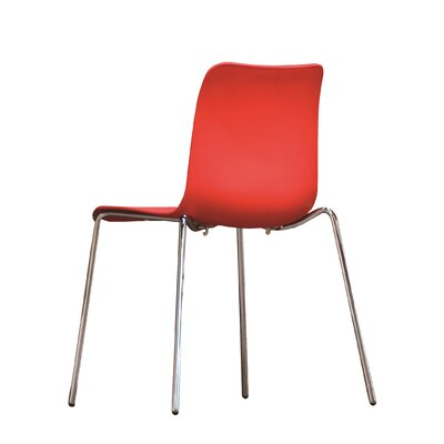 B&T Design Leo Side Chair Finish: Red