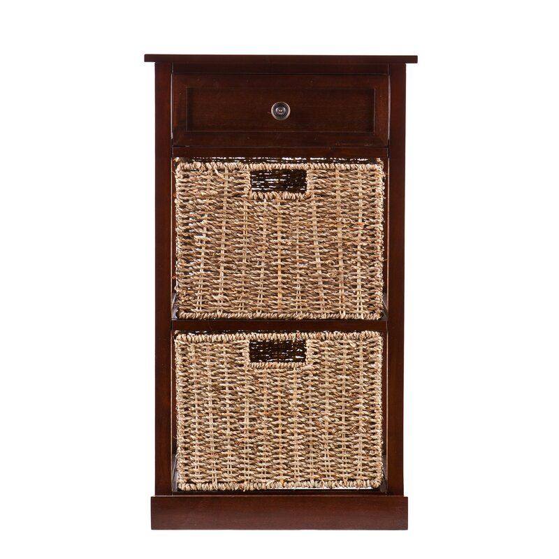 default_name - Charlton Home Cayuga 2-Basket Storage Shelf & Reviews Wayfair