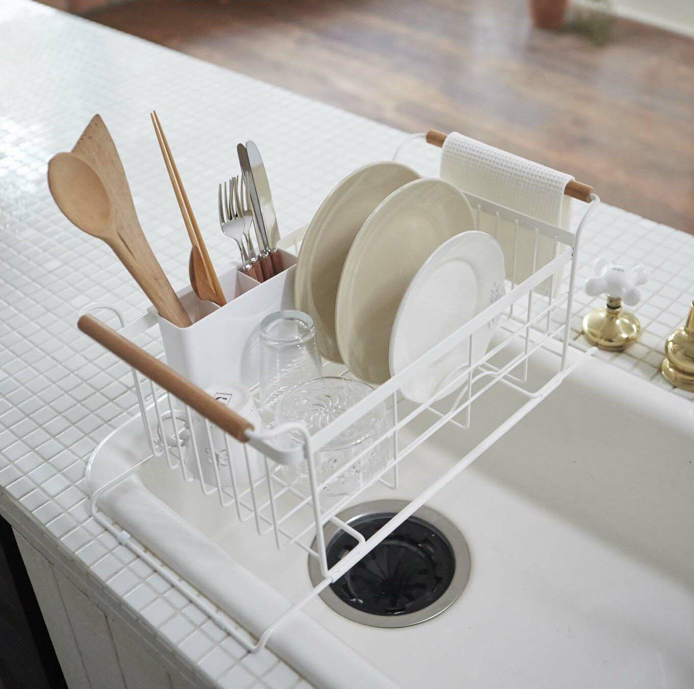 37f3e6086b32 Corrigan Studio Jamari Over-the-Sink Dish Drainer Rack & Reviews |  Wayfair.ca