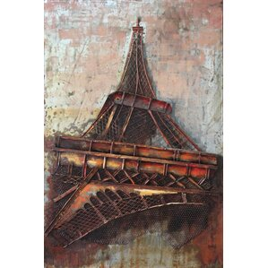 Eiffel Tower Wall Decor metal eiffel tower decor | wayfair