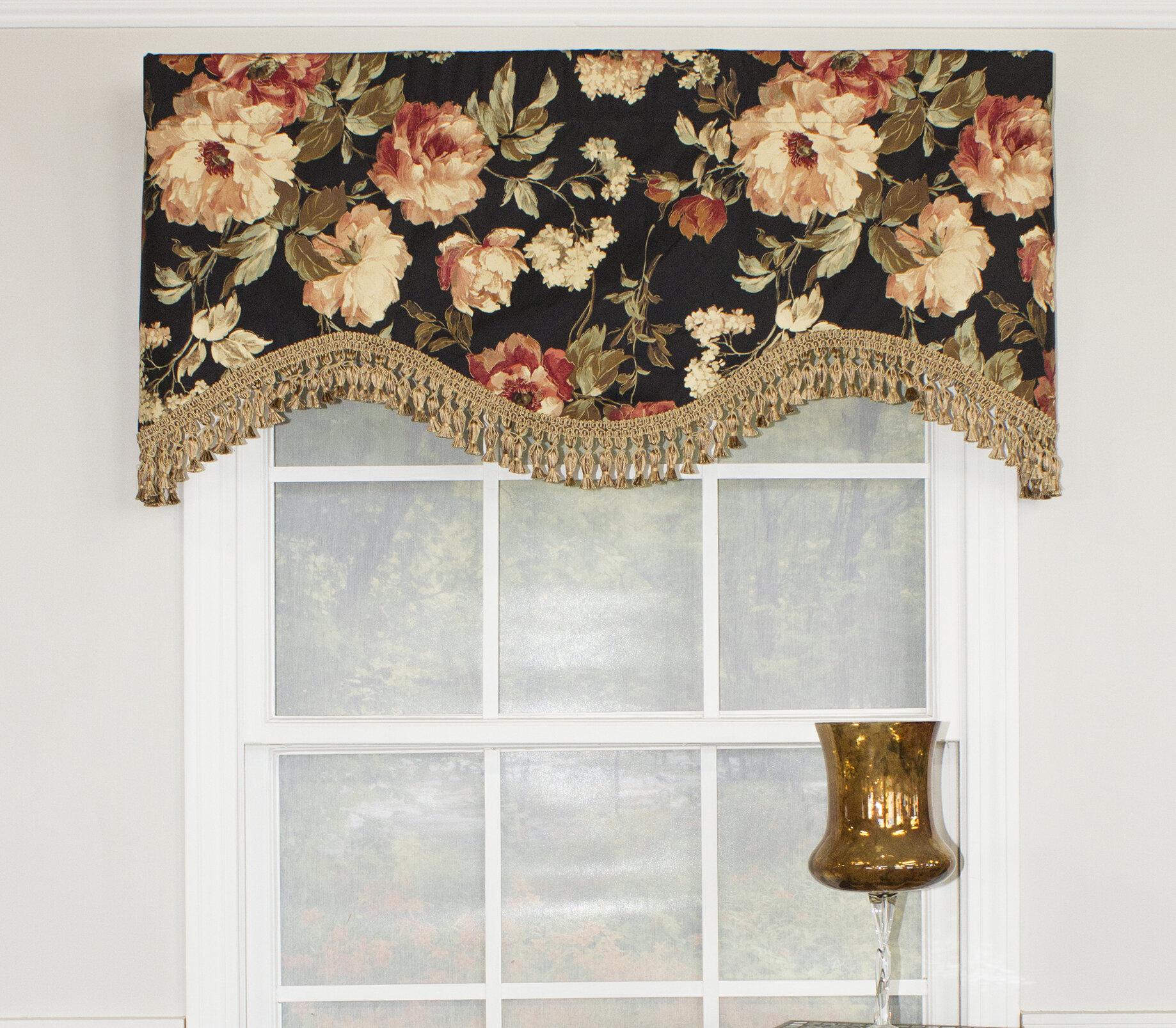 cornice window valance no sew darby home co bardon cornice 51