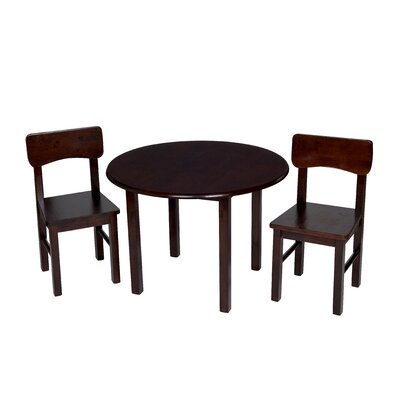 Zoomie Kids Damato Kids 3 Piece Table and Chair Set Color: Espresso
