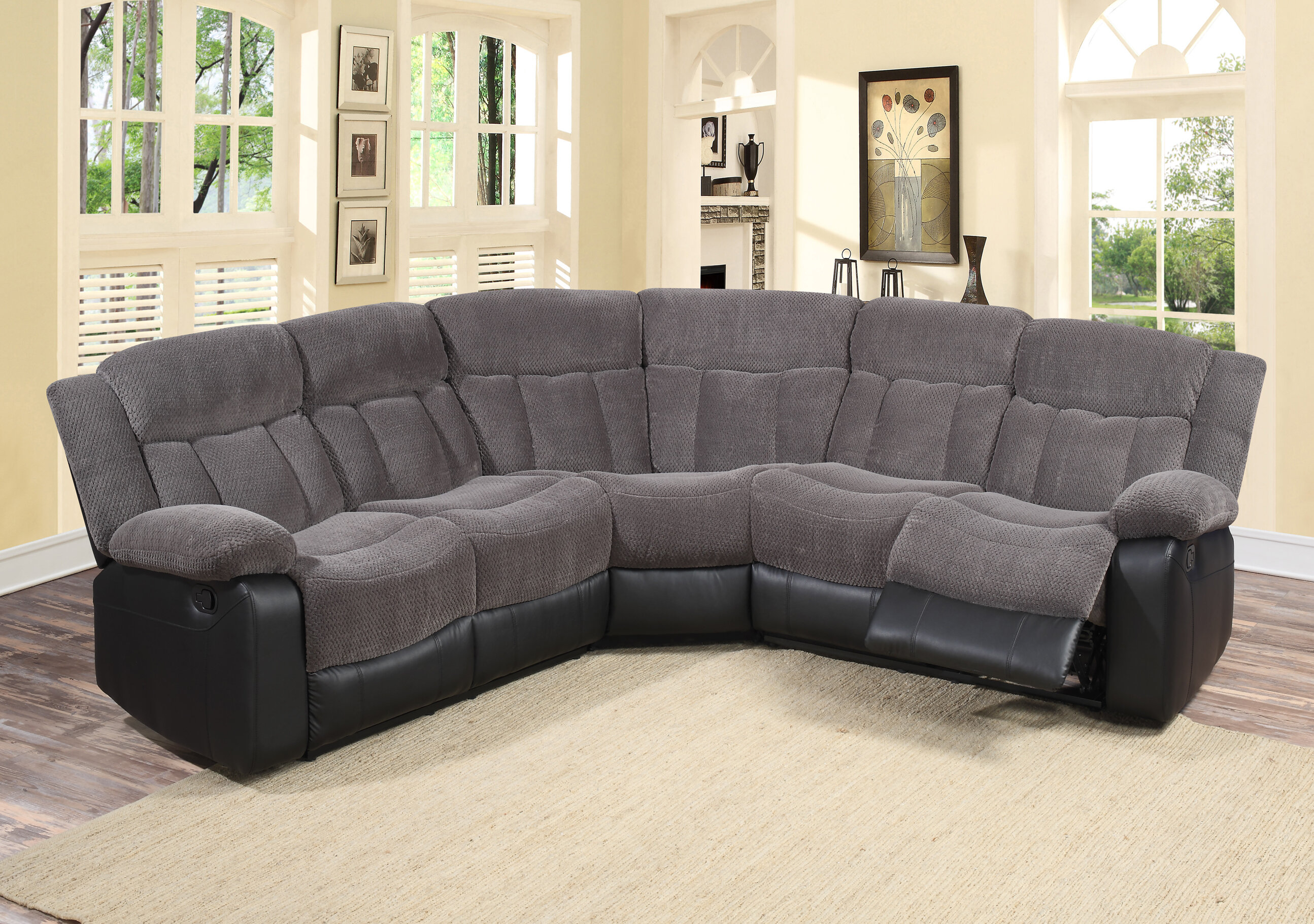 small recliners of u size sofa room living and chaise l lounge couch sofas recliner sectional shaped bed with full oversized grey