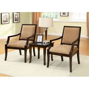Bruna 3 Piece Accent Armchair Set