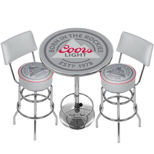 Coors Light Game Room Combo 3 Piece Pub Table Set