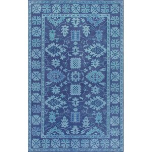 Behl Hand-Tufted Blue Area Rug