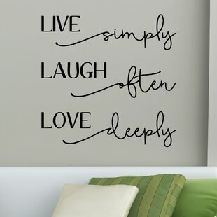 Tutuala Live Laugh Love Bellwethers Wall Decal