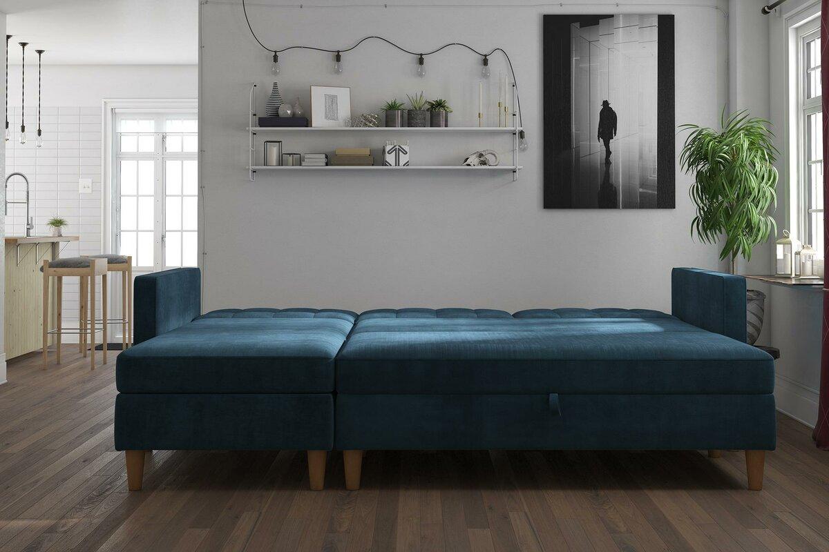 Brayden Studio Stigall Reversible Sleeper Sectional